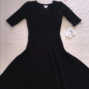 Solid Black LuLaRoe Nicole Dress NWT Sz S